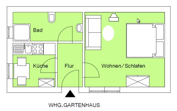 gartenhaus zum wohnen arkansasgreenguide. Black Bedroom Furniture Sets. Home Design Ideas